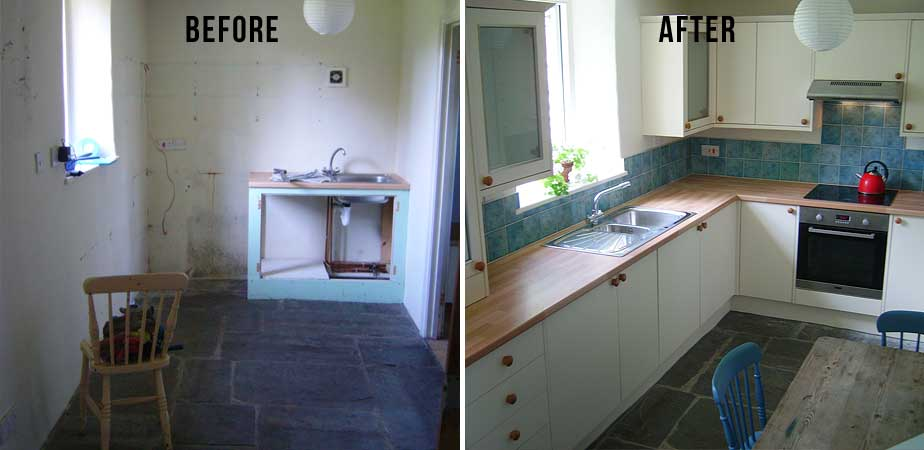 Kitchen - Before and After